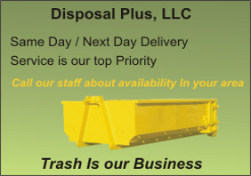 Disposal Plus, LLC - your source for rolloff dumpsters CT and MA